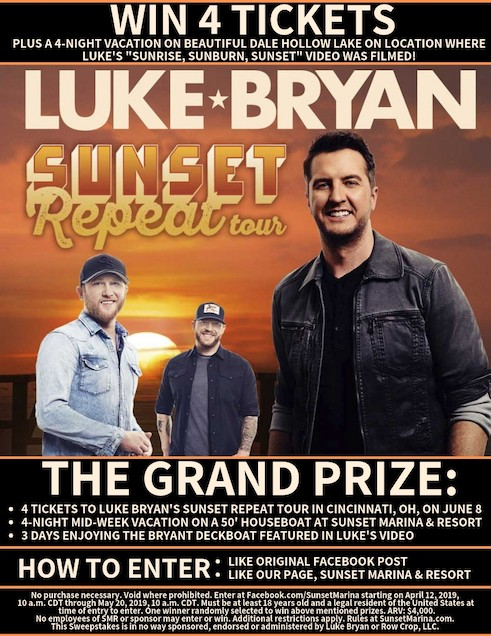 Luke Bryan Sunset Repeat Sweepstakes
